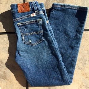 Lucky Kid • Embroidered Straight Leg Denim Jeans